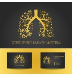 Pulmonary clinic business card vector
