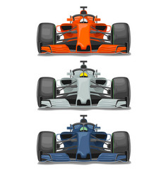 Racing car with protection front view flat vector