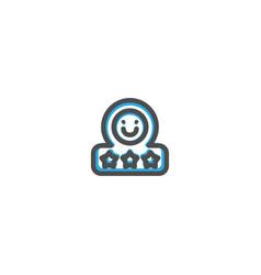 rate icon line design e commerce icon vector image