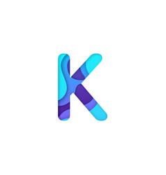 realistic paper cut letter k vector image