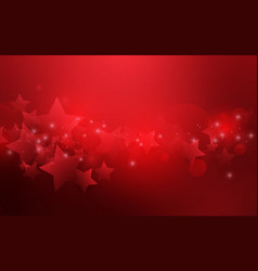 red abstract stars shape bokeh background vector image