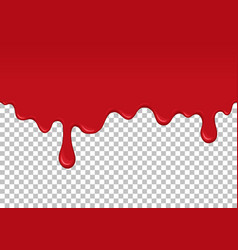 Red dripping slime seamless element vector