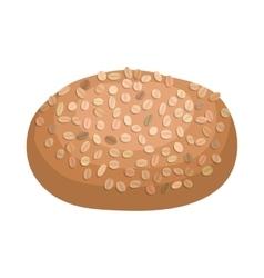 Rye bread icon cartoon style vector image