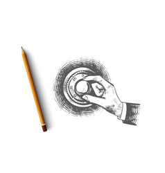 Security concept hand drawn isolated vector