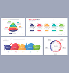 set clean and minimalist infographic vector image