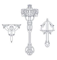 Set of victorian ornaments vector
