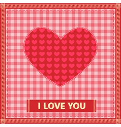 sewing valentine vector image