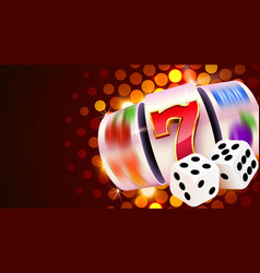Slot machine and dices wins jackpot 777 big vector