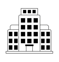 summer vacation travel hotel building tourism vector image