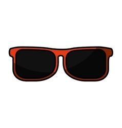 Sunglasses fashion isolated icon vector