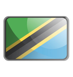 tanzania flag on white background vector image