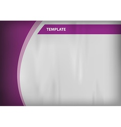 template purple curve side vector image