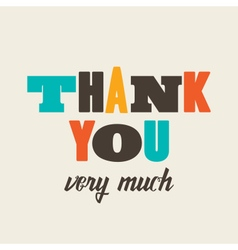Thank you card letterpress vector