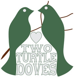 Two Turtle Doves vector