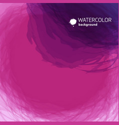 watercolor round background vector image
