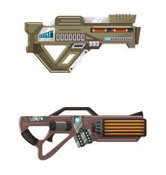 Weapon space gun blaster laser gun with vector