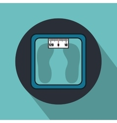 Weight measure balance isolated icon vector