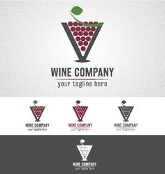 Wine company logo vector image