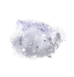winter christmas card hand-painted watercolor vector image