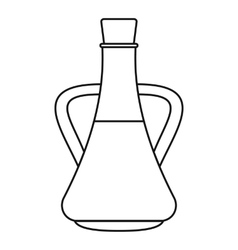 Bottle with olive oil icon outline style vector image vector image