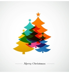 Christmas trees - colorful background vector image vector image