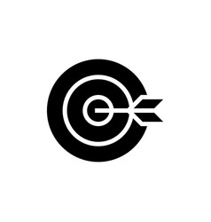 dart board goal icon black vector image