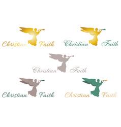 logo christian faith angel vector image