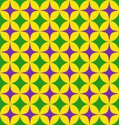 Seamless mardi grass abstract pattern vector image