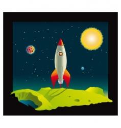 space rocket in deep space vector image