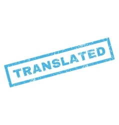Translated Rubber Stamp vector image vector image
