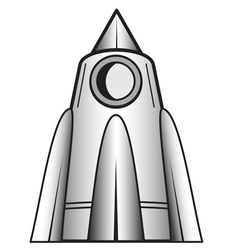Cartoon space craft vector image vector image