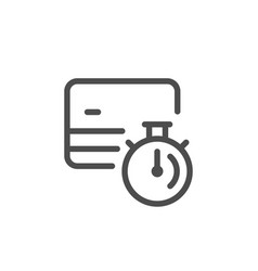 credit card transaction time line icon vector image vector image