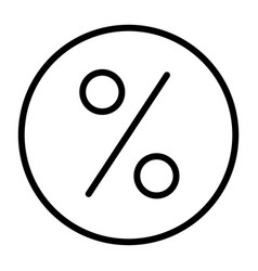 discount pixel perfect thin line icon 48x48 vector image