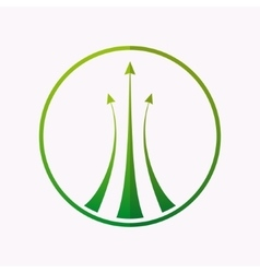 logo design element Arrow target green vector image