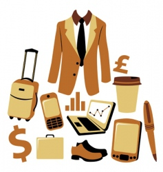 business man accessories set vector image vector image