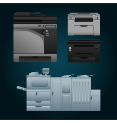 Color printer vector image