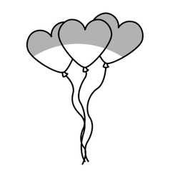 heart shaped balloons air party icon vector image vector image
