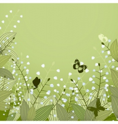 lilies of the valley vector image