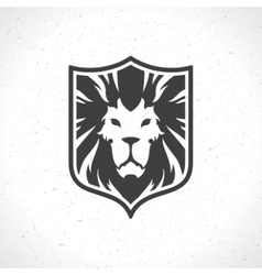 Lion face logo emblem template for business or t vector image vector image