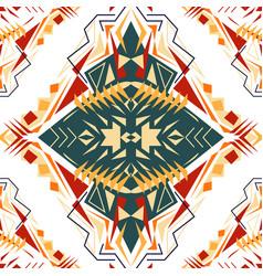 seamless texture tribal geometric pattern aztec vector image