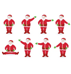 set of pointing Santa Clauses vector image vector image