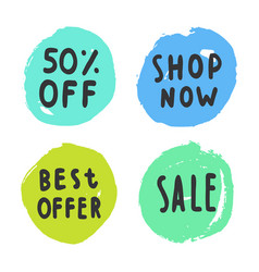 set of sale buttons vector image vector image