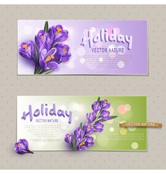 Set Two greeting cards vector image vector image