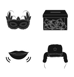 travel finance and or web icon in black style vector image