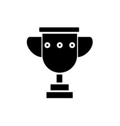 trophy cup simple icon black vector image