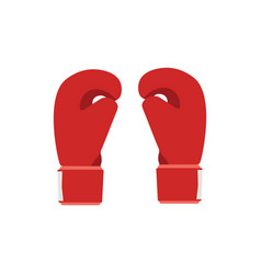 boxing gloves red fight boxer vector image vector image