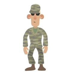 Cartoon soldier man vector image