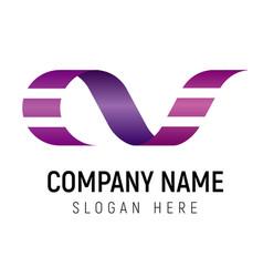 film strip logo template vector image