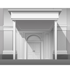 Shop Building Front with Closed Door Isolated vector image vector image