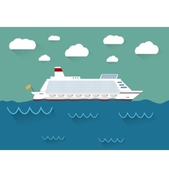 The of cruise ship vector image vector image